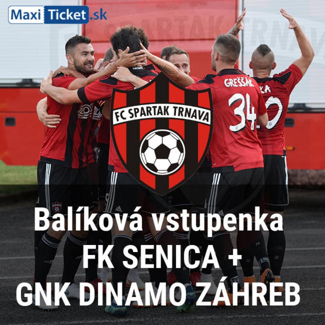 Balíková vstupenka  FK Senica(20.10 o 13:45) GNK Dinamo Záhreb(25.10 o18:55)