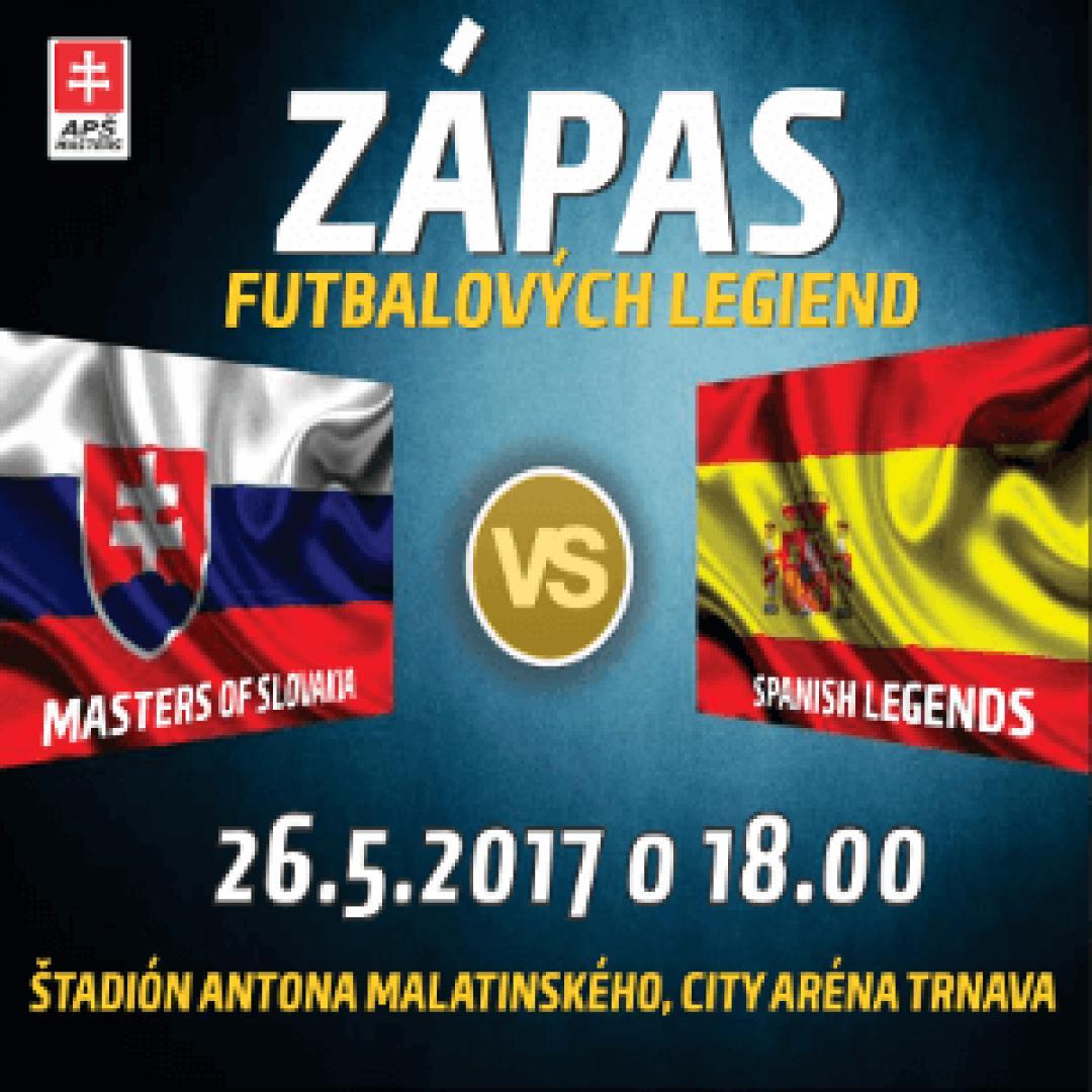 Zápas futbalových legiend Slovensko vs. Španielsko