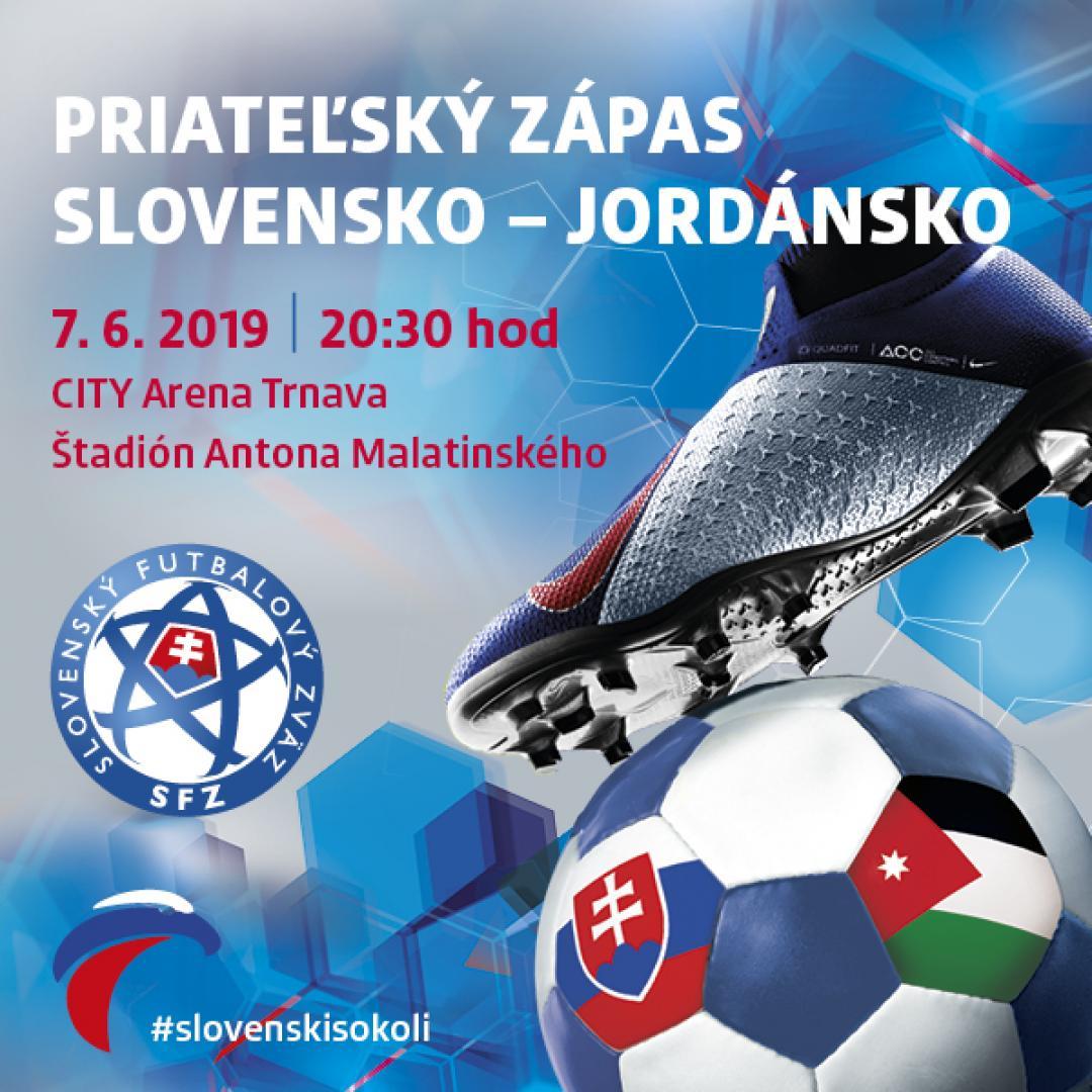 Priateľský zápas Slovensko - Jordánsko