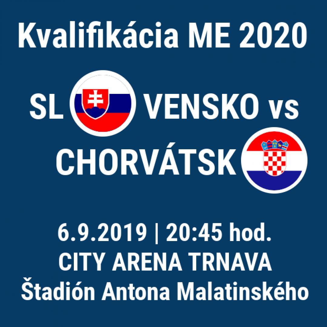 Kvalifikácia ME 2020 Slovensko - Chorvátsko