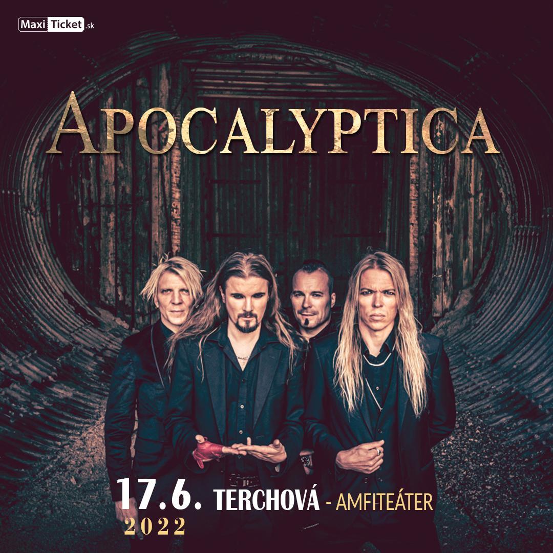 Apocalyptica (FIN)   17.06.2022 - piatok Amfiteáter Nad Bôrami Terchová