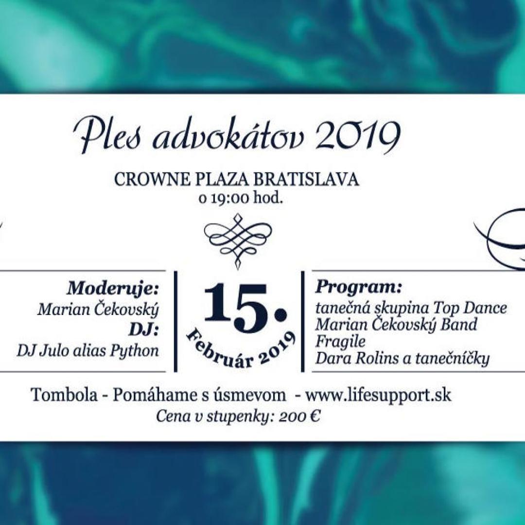 Ples advokátov 2019, Bratislava