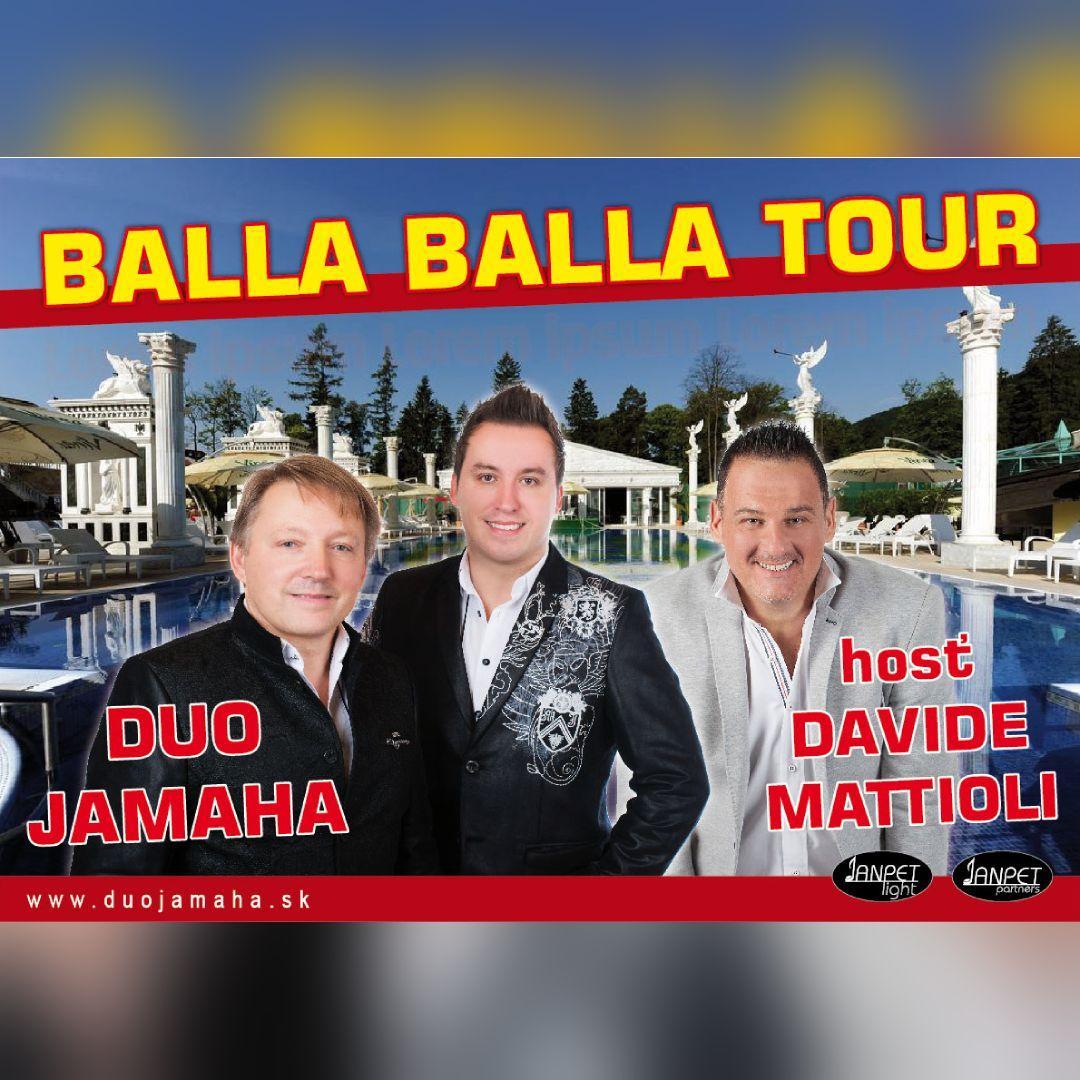 Balla Balla Tour - Duo Jamaha a hosť Davide Mattioli / Streženice