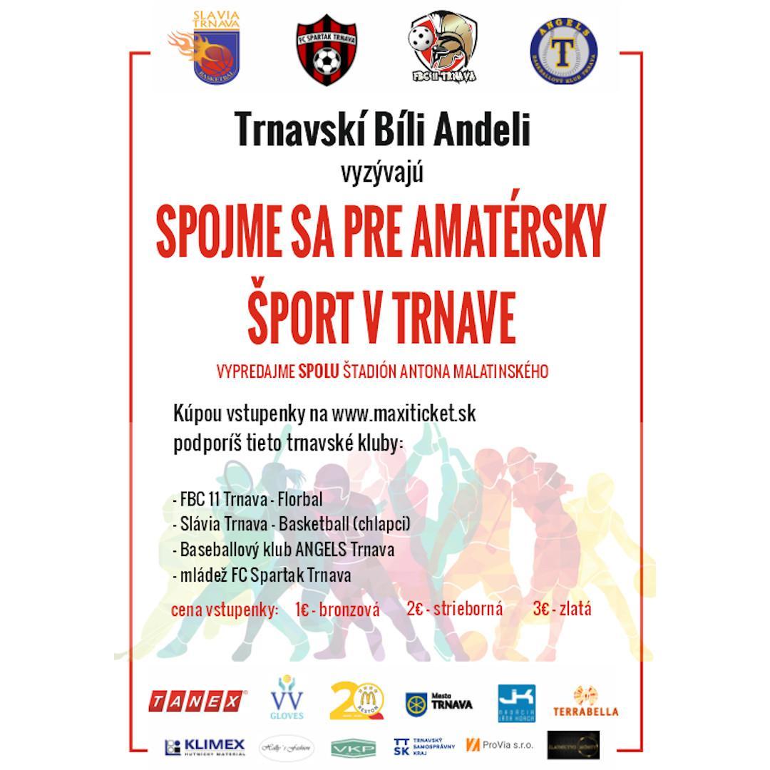 Zbierka pre amatérsky šport v Trnave