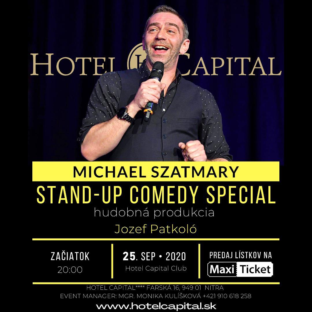 Michael Szatmary Stand-up Comedy  a hudobná produkcia Jozef Patkoló