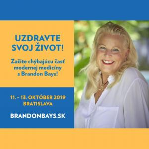 Intenzívna Cesta sBrandon Bays, 3-dňový seminár vBratislave 11.–13.10.2019