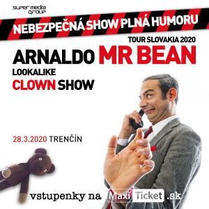 Mr.Bean lookalike clown show Slovensko / Trenčín