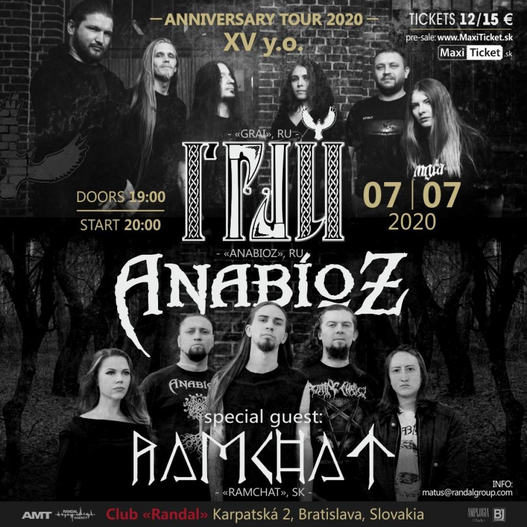 GRAI (RUS) / RAMCHAT (SK) / ANABIOZ (RUS) / Bratislava