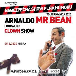Mr.Bean lookalike clown show Slovensko / Nitra