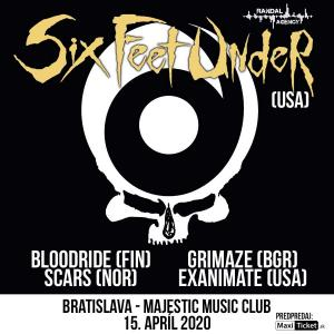 SIX FEET UNDER (USA) + supports / Bratislava