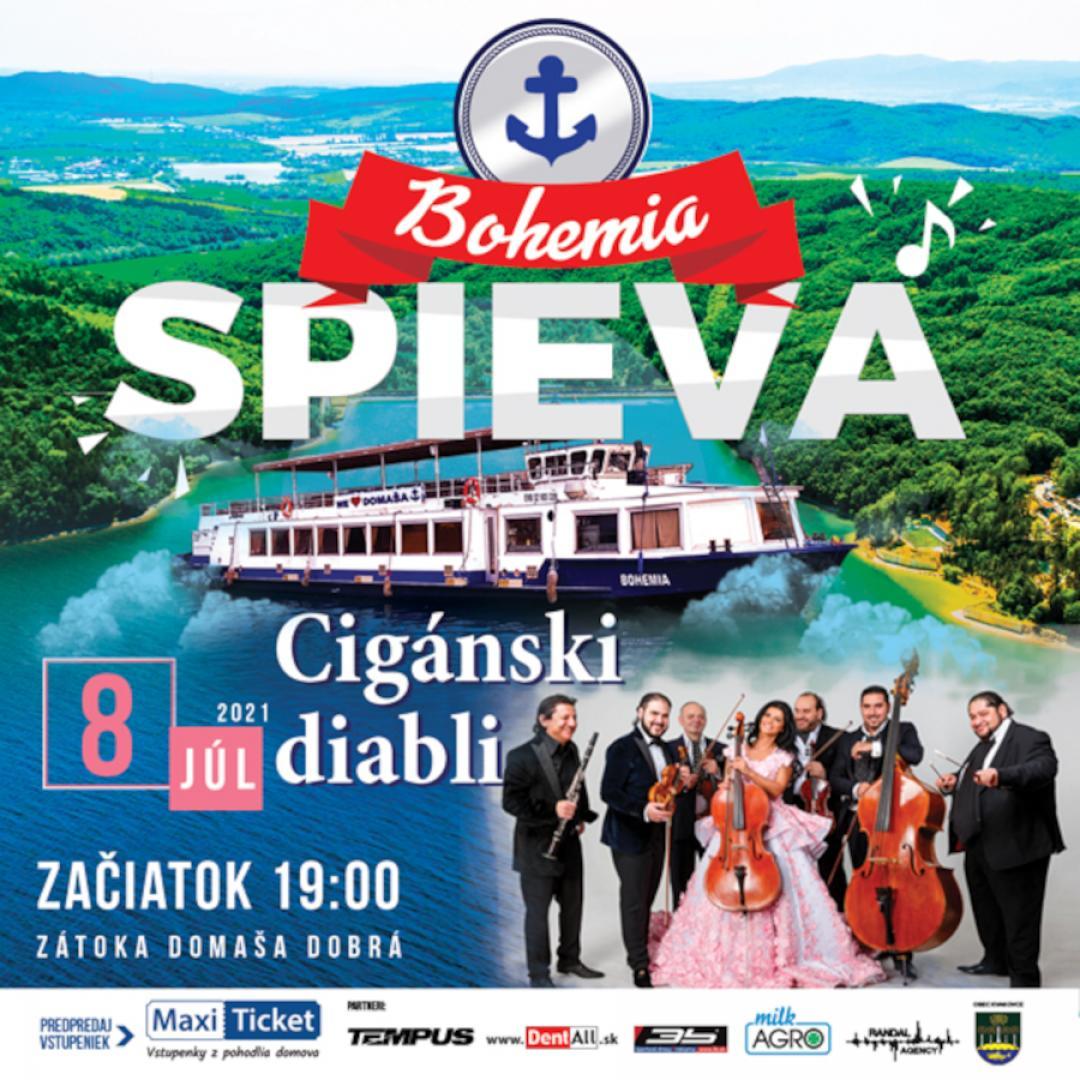 BOHEMIA SPIEVA / Cigánski diabli | 08.07.2021 - štvrtok Loď Bohemia - prístav Domaša - Dobrá