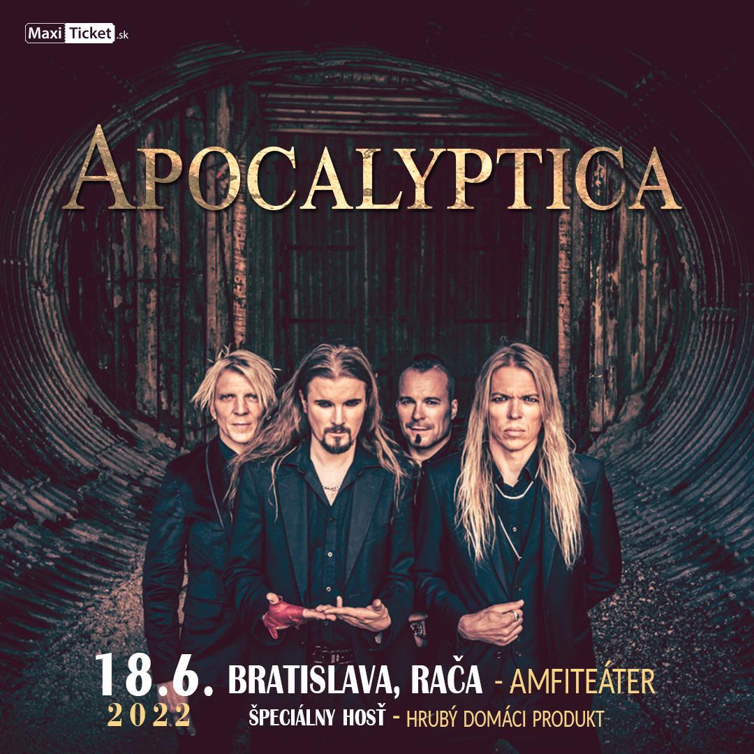 Apocalyptica (FIN)   18.06.2022 - sobota Amfiteáter Rača, Bratislava