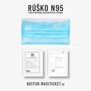 BAT FUN - Certifikované rúško N95