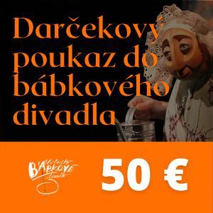 Darčekový poukaz do bábkového divadla 50€