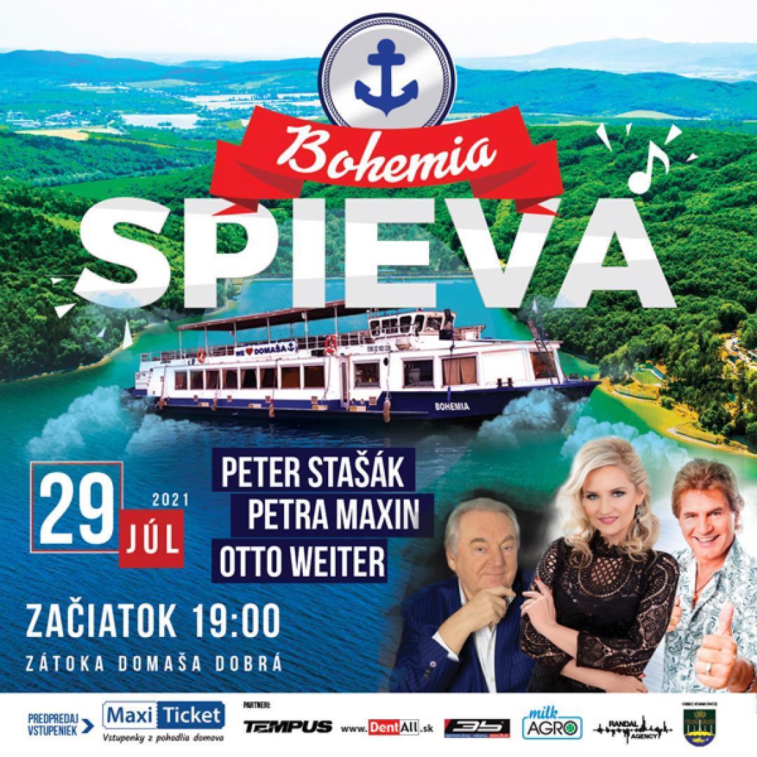 BOHEMIA SPIEVA / Weiter, Stašák, Maxin | 29.07.2021 - štvrtok Loď Bohemia - prístav Domaša - Dobrá