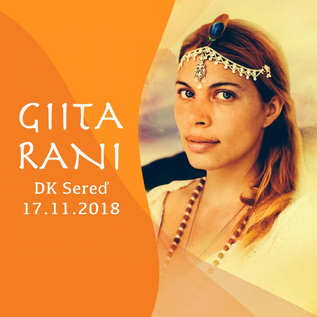 Giita Rani + premiéra filmu Mantra 18.11 o 15:00, Sereď
