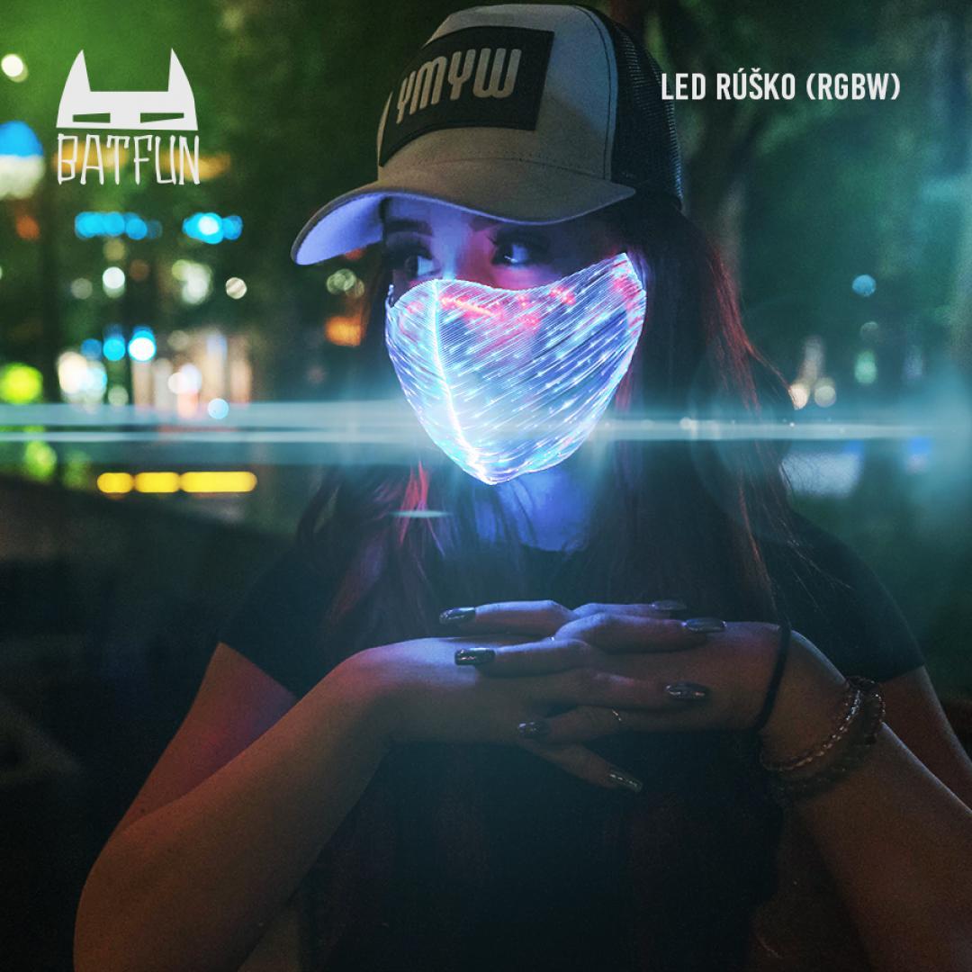 BAT FUN - LED rúško (RGBW)