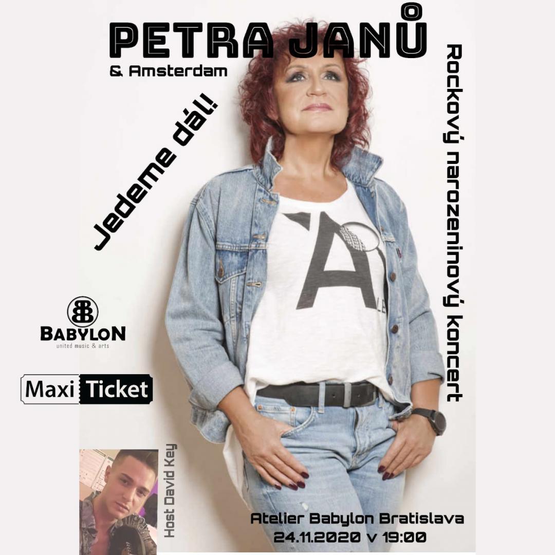 PETRA JANŮ - rockový narodeninový koncert, host David Key