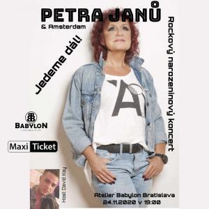 PETRA JANŮ - rockový narodeninový koncert, host David Key / Bratislava