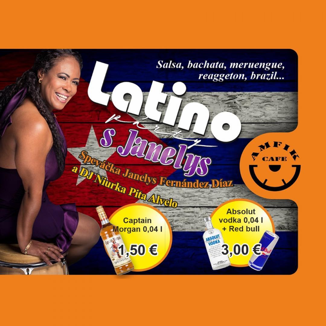 Latino párty - Janelys Fernández Diaz a DJ Niurka - Amfikcafe