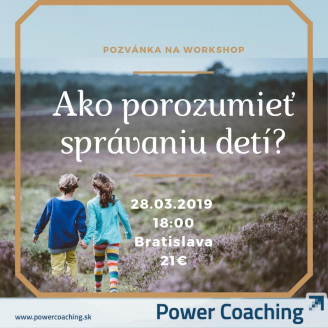 Workshop: Ako porozumieť správaniu detí?